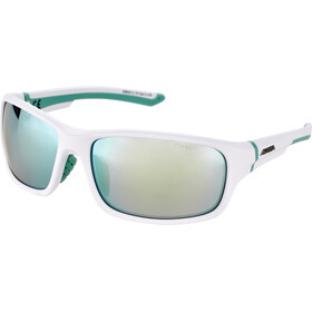 Alpina Lyron S Okulary, white matt-pistachio/emerald mirror